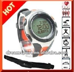 Moniteur de fréquence cardiaque montre de Sport avec podomètre et en option pectorale