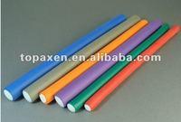 flexible soft twist perm rods/velcro hair roller/rulo plastico