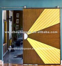 German style modern luxury sliding wood barn door hardware