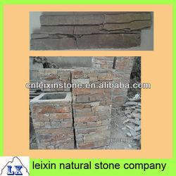 stone wall covering rusty slate 100% natural ledge stone column