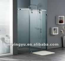 AOSC1803CL sliding frameless tempered glass shower door