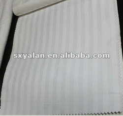 100% cotton bleached white 1cm stripe bedding fabric