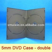 5.2mm black double PP DVD STORAGE