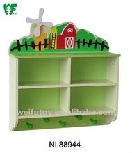 Children 2-tier wooden bookshelf