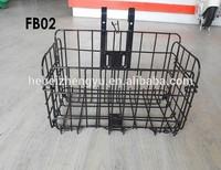 foldable steel bicycle basket/ steel basket can be folded