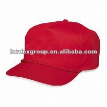 100% Cotton Twill Golf Hat with 5 or 6 Panels and 3-D Embroidery Logo