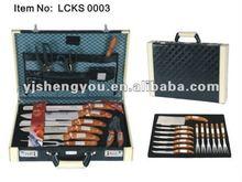25 pcs knife set in suitcase