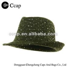 2015 Wholesale sequin fedora man hat
