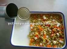 canned mixed vegetable product