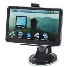 5.0 inch LCD Win CE 5.0 GPS Navigator w/ Bluetooth/FM/AV + 4GB USA & Canada Maps sd Card