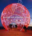 al aire libre rojo navidad decoración de bolas