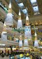 conduit décoration lumière pour le centre commercial atrium décoration