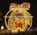 led bola de navidad al aire libre para la decoración de la luz