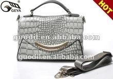 Newest Crocodile embossed with flap bag 2012 Fashion ladies handbag