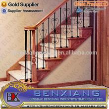 2012 new wrought iron stair Inox ograje