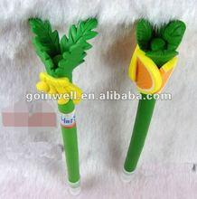 fruit shape polymer clay pen