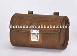Brown cow leather bike saddle bag/Tool bag SB-26