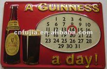 Exquisite Metal Tin Calendar