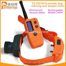 New Remote training and beeper dog shock collar TZ-PET910 dog training agility equipment