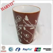 2014 Alibaba Express Brown Clay Flower Pot Price Cheap / Flower Pot Painting Designs / Vietnam Ceramic Flower Pots