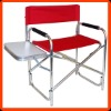 Folding Aluminum director chairs with side board