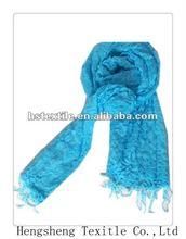 2015Spring fashion ladies plain dyed elastic 100%viscose magic scarf