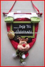 Fashion christmas door hanger with reindeer/Xmas decoration