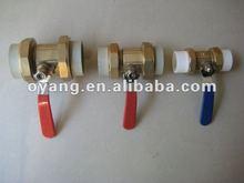 Extended stem copper tube full bore welded ball valve