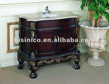 Antique bathroom cabinet,bathroom vanity with marble top and mirro,bathroom furniture