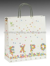 expo advertise kraft paper bag for promotion