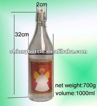 Vodka and Rum container, High Quality Glass Bottle/Jar 1000ml
