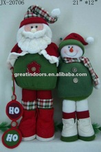 Father and son snowman family set