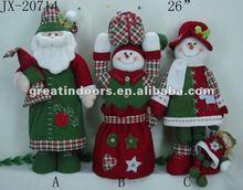 plush christmas family sets Santa Clause indoor decoration