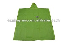 Polyester/EVA/PVCN Green Poncho or rainwear