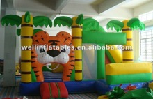 2013 new inflatable tiger slide combo / kids inflatable jumpers best price