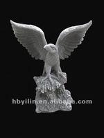 Grey sandstone eagle sculpture