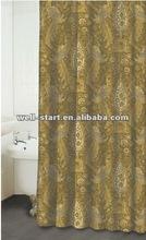 Jewel tower shabbat printed polyester fabric shower curtain