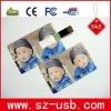 Credit card shaped USB Flash Drive with color print bulk 1gb usb flash drives