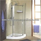 tempered glass enclosed shower room