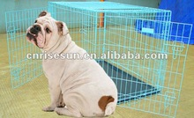 """NEW 24"""" Folding 2 Door Wire Pet Dog Kennel Crate w/ Mat"""