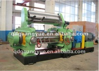 open mixing mill with stock bender for rubber or plastic / rubber roller mixing machine
