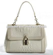 New arrival!Crocodile turnlock flap leather bag handbags fashion 2012