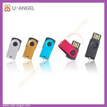 factory selling revolving Mini usb flash disk ,swivel metal usb flash drive 16gb