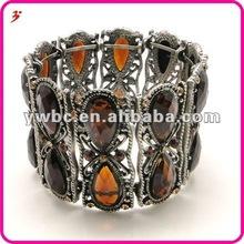 popular alloy orange rain drop shape crystal bangle jewelry( B101340)