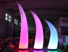 2015 Hot sale !! Event decoration inflatable/inflatable pillars/Crescent pillars NO.322