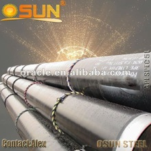 3PE coating gas oil steel line pipe