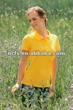 Hot !!! 2012 fashional ladies disccount polo shirt, cotton ladies polo shirt t shirt