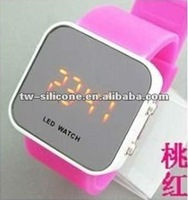Dazzle color LED silicone watch