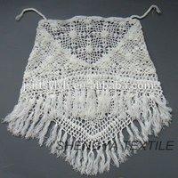Custom Fashion Women Crochet Shawl With Fringes