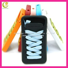 Popularly silicone shoes hand case for iphone 4g/4gs
